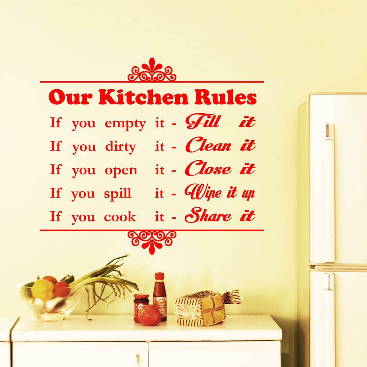 Our Kitchen Rules Wall Art. Choose From 18 Beautiful High
