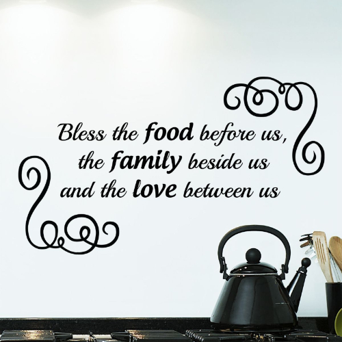 Bless The Food Before Us Wall Sticker