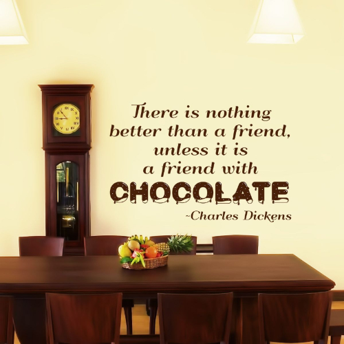 Charles Dickens Chocolate Wall Quote