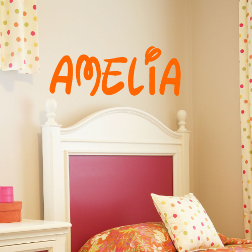 disney name wall sticker