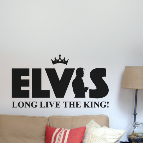 Elvis Long Live The King Wall Sticker