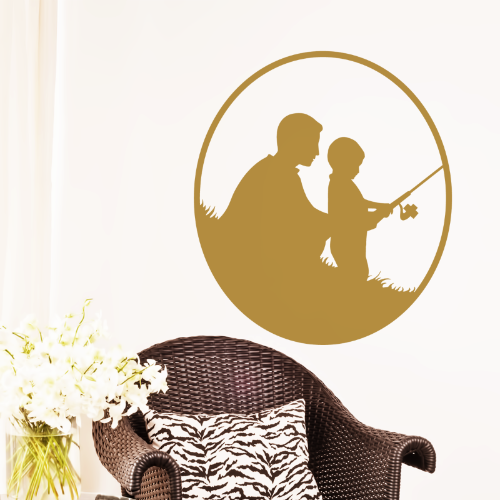 Father & Son Fishing Wall Sticker
