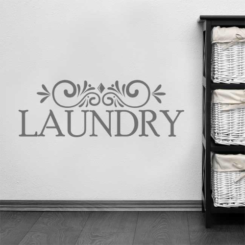 Laundry Wall Sticker Sign