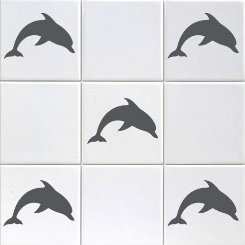 Mini Dolphin Tile Stickers