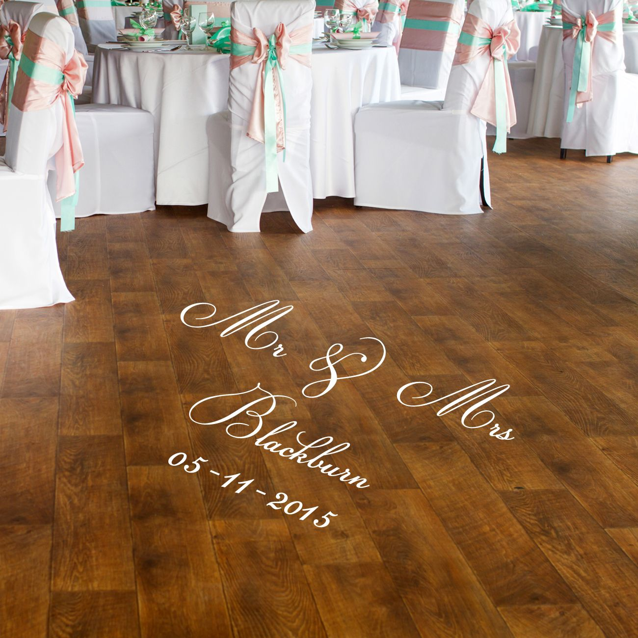 Mr mrs dance floor decal personalised vinyl