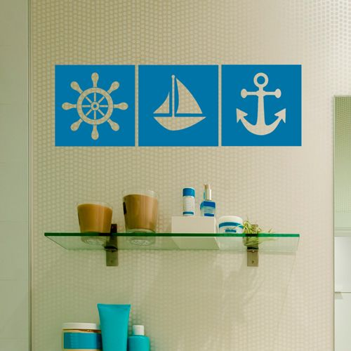 Nautical Themed Tiled Stickers