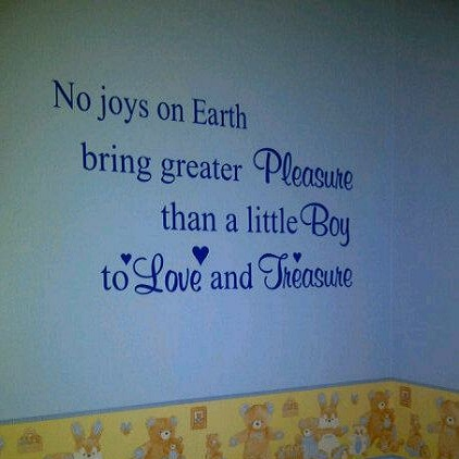 No Joys On Earth Boys Nursery Quote