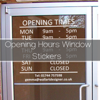 Opening Times Sign Stickers