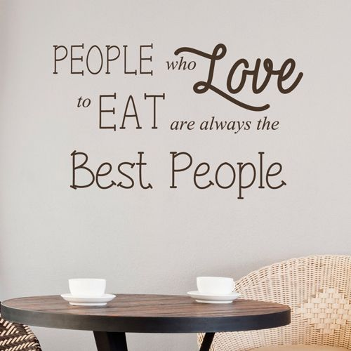 People Who Love To Eat Kitchen Sticker