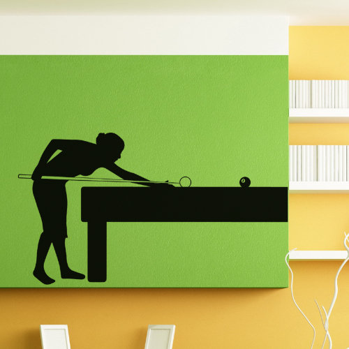 pool table & player wall sticker