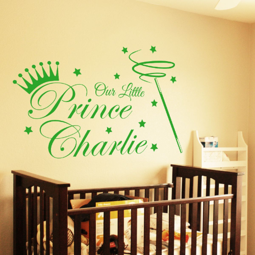 Prince Wall Art Sticker With Name