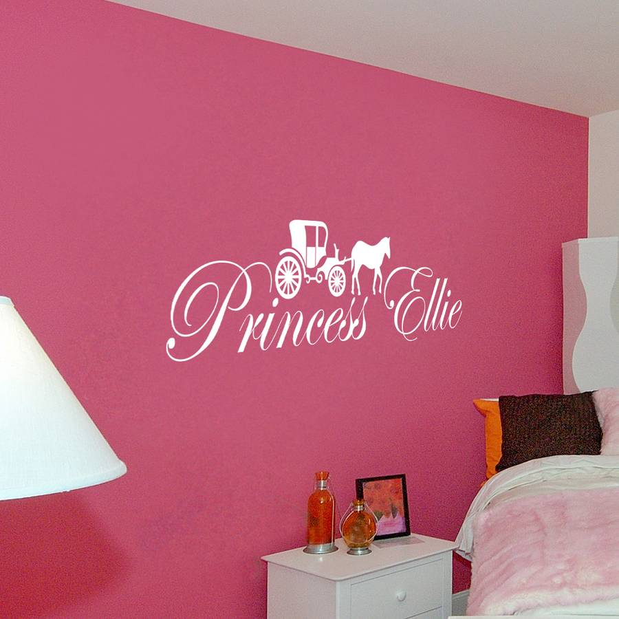 princess wall decals. Black Bedroom Furniture Sets. Home Design Ideas