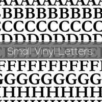 Small Vinyl Letters
