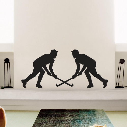 Two Hockey Players Wall Sticker