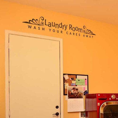 Wash Your Cares Away Laundry Room Wall Art