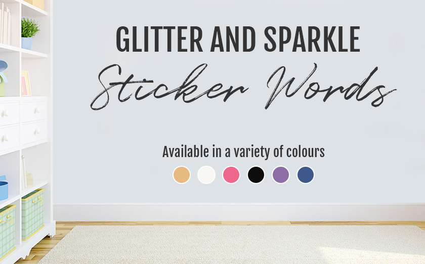 Promo for Glitter Letter Stickers