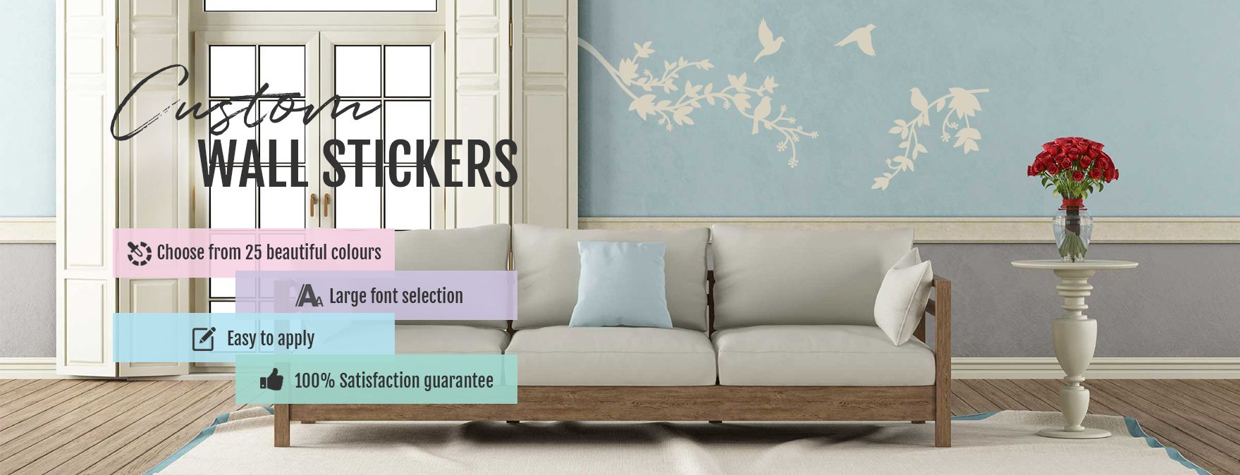 Banner for Custom Wall Stickers