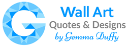 Wall Art Quotes & Designs by Gemma Duffy Logo